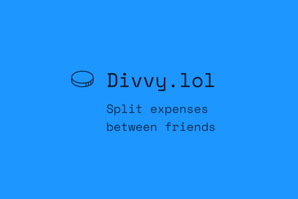 Divvy • Split bills between friends